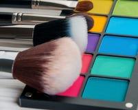 Uppsättning av yrkesmässig makeup Royaltyfri Foto