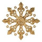 uppsättning 3d av en forntida guld- prydnad på en vit bakgrund Royaltyfri Foto
