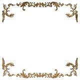 uppsättning 3d av en forntida guld- prydnad på en vit bakgrund Royaltyfria Foton