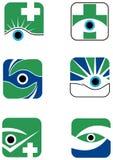 Uppsättning för ögonlogodesign Royaltyfri Foto