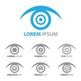 Uppsättning för ögonsymbolssymbol Arkivbilder
