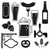 Uppsättning för ölvektorsymboler stock illustrationer
