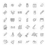 Uppsättning för översiktsrengöringsduksymbol - teckningshjälpmedel Arkivfoton