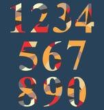 Uppsättning för abstrakt nummer Fotografering för Bildbyråer