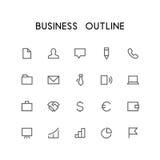 Uppsättning för affärsöversiktssymbol stock illustrationer