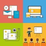 Uppsättning för affärskontor Fotografering för Bildbyråer
