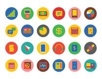 Uppsättning för affärslogosymboler Pengar teknologi, bank Royaltyfri Foto