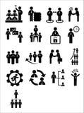 Uppsättning för affärsrengöringsduksymbol Royaltyfri Fotografi
