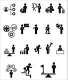 Uppsättning för affärsrengöringsduksymbol Royaltyfri Foto