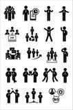 Uppsättning för affärsrengöringsduksymbol Arkivbild