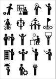 Uppsättning för affärsrengöringsduksymbol Fotografering för Bildbyråer