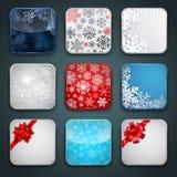 Uppsättning för Apps julsymbol Arkivfoto