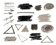 Uppsättning för askar för borsteslaglängdmålarfärg Arkivfoto