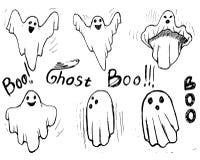 Uppsättning för attraktion för viskningvärdshand Ondska för spöketeckendräkt vektor illustrationer