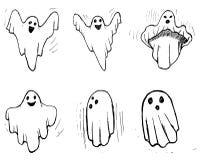 Uppsättning för attraktion för viskningvärdshand Ondska för spöketeckendräkt royaltyfri illustrationer