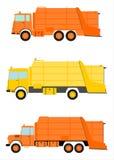 Uppsättning för avskrädelastbil. vektor illustrationer