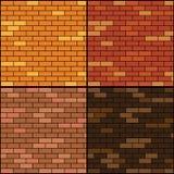 Uppsättning för bakgrund för tegelstenvägg Arkivbilder