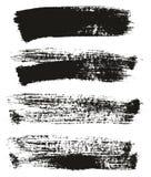 Uppsättning 30 för bakgrund för vektor för abstrakt begrepp för detalj för bakgrund för målarfärgborste hög stock illustrationer