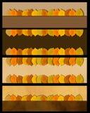 Uppsättning för baner för höstsidor Naturgräns Arkivfoto
