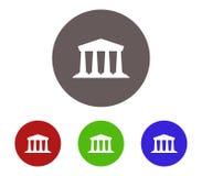 Uppsättning för banksymbolsillustration stock illustrationer