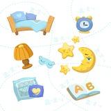 Uppsättning för barnsovrumobjekt vektor illustrationer