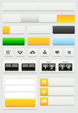 Uppsättning för beståndsdelar för rengöringsdukdesign Arkivfoton