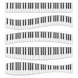 Uppsättning för bild för pianotangentbord stock illustrationer