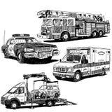 Uppsättning för bilvektorteckningar vektor illustrationer