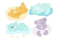 Uppsättning för björn för nalle fyra Arkivbild