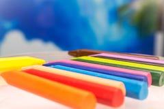 Uppsättning för blyertspennafärgpennavax Royaltyfria Foton
