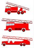 Uppsättning för brandlastbil stock illustrationer