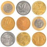 Uppsättning för Brasilien cirkulerande myntsamling Fotografering för Bildbyråer
