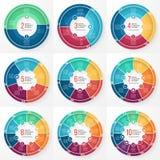 Uppsättning för cirkel för diagram för vektoraffärspaj infographic royaltyfri illustrationer