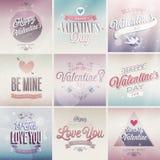 Uppsättning för dag för valentin` s Royaltyfria Bilder