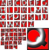 Uppsättning för design för abcalfabet special Royaltyfria Bilder