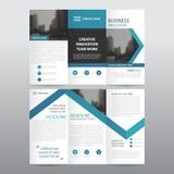 Uppsättning för design för blå för pilaffär trifold för broschyr för broschyr för reklamblad för rapport vektor för mall minsta p vektor illustrationer