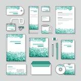 Uppsättning för design för brevpapper för mall för bubbladesignidentitet och affärsbrevpapper Royaltyfri Foto