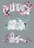 Uppsättning för designmallbaner Royaltyfria Bilder