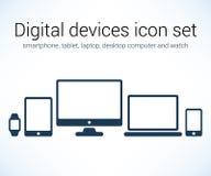 Uppsättning för Digital apparatsymbol vektor illustrationer