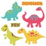 Uppsättning för Dinosaur för Ð-¡ ute vektor illustrationer