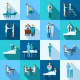Uppsättning för doktorer symboler royaltyfri illustrationer