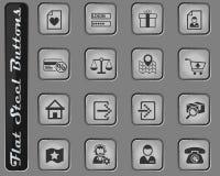 uppsättning för E-kommers manöverenhetssymbol royaltyfri illustrationer