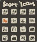 uppsättning för E-kommers stensymbol royaltyfri illustrationer