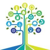 Uppsättning för Eco energisymboler. Royaltyfri Fotografi