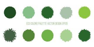 Uppsättning för Eco gräsplancirklar royaltyfri illustrationer