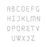 Uppsättning för engelskt alfabet Royaltyfria Bilder