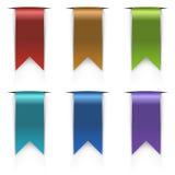 Uppsättning för färgflaggaetiketter Arkivfoto