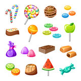 Uppsättning för färggodissymbol stock illustrationer
