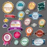 Uppsättning för färgSale klistermärkear royaltyfri illustrationer