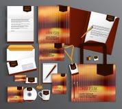 Uppsättning för företags identitet med abstrakt bakgrund Fotografering för Bildbyråer